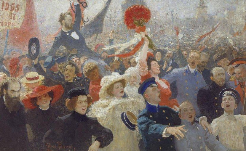 "Ilya Repin, ""17 October 1905."" Credit Ilya Repin/Wikimedia Commons"