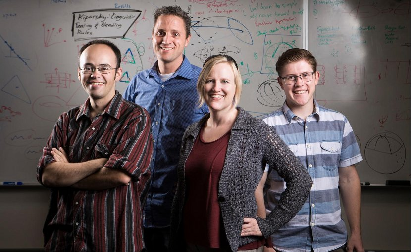 Daniel Ricks, David Wingate, Nancy Fulda and Ben Murdoch. Credit Tabitha Sumsion/BYU Photo