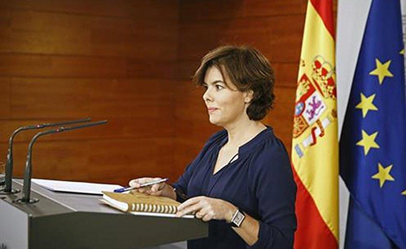 Spain's Vice-Prime Minister, Soraya Sáenz de Santamaría. Photo Credit: Pool Moncloa