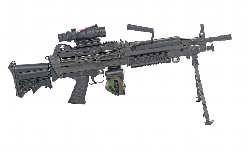 A M249 light machine gun. Source: WIkipedia Commons.