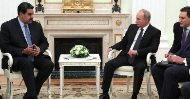 Russia's President Vladimir Putin meets with President of Venezuela Nicolas Maduro in the Kremlin. Photo Credit: Kremlin.ru.