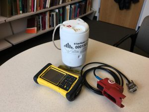 This is a portable seismometer used to map the geology beneath Old Faithful. Credit Paul Gabrielsen/University of Utah