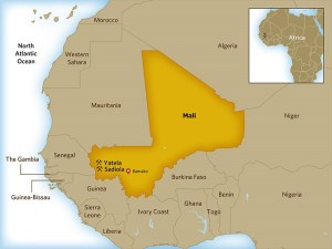 Location of Sadiola Mine in Mali. Graphic via OilPrice.com