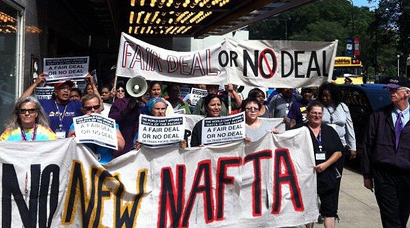 Protesting NAFTA. Photo Credit: Popular Resistance.