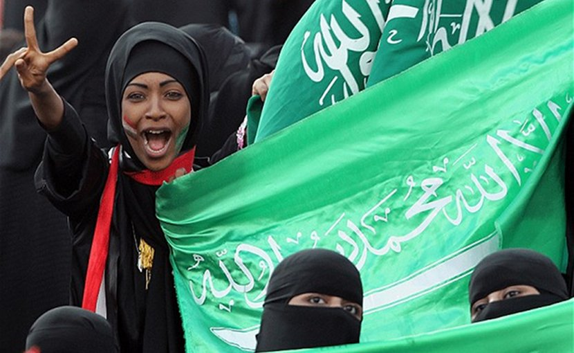 Saudi women.