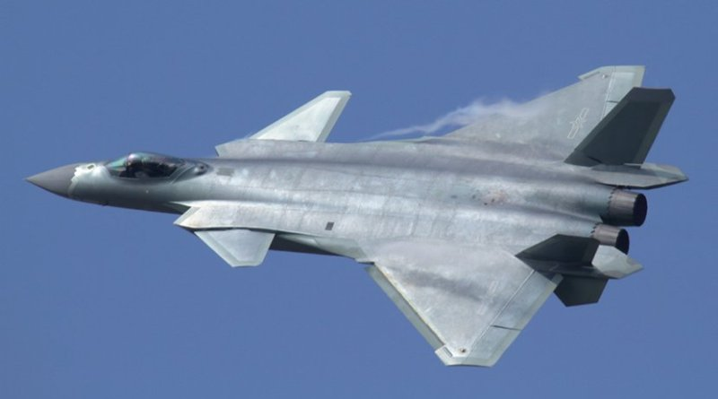 China's twin-engine J-20A, built by Chengdu Aerospace Corporation, is a single seat stealth fighter designed for long-range fighter missions. Photo by Alert5, Wikipedia Commons.
