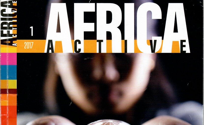 "Cover of ""Africa Active,"" issue number one."