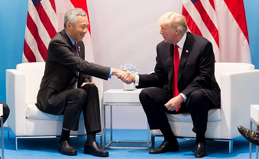 Singapore Prime Minister Lee Hsien Loong with US President Donald Trump. File photo The White House.