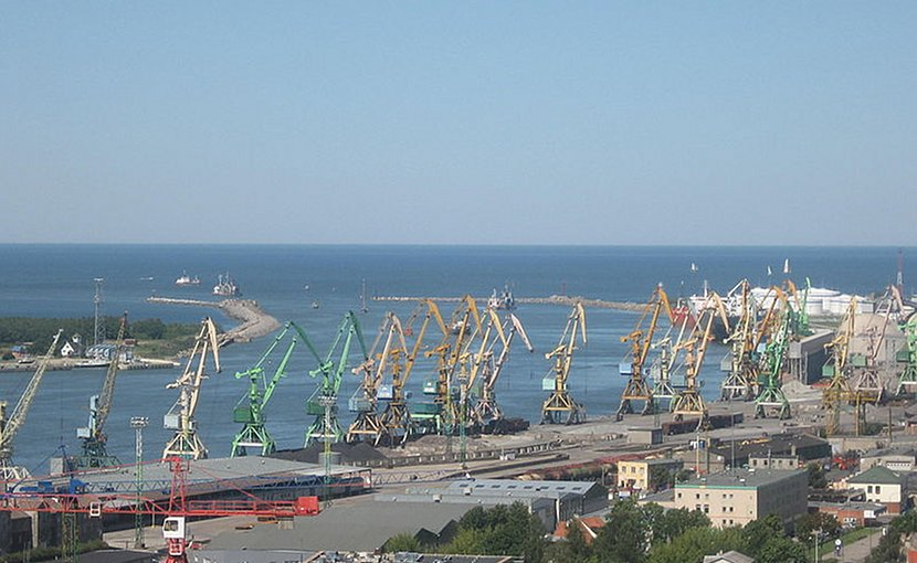 The port of Klaipėda, Lithuania. Photo by Žiedas, Wikipedia Commons.