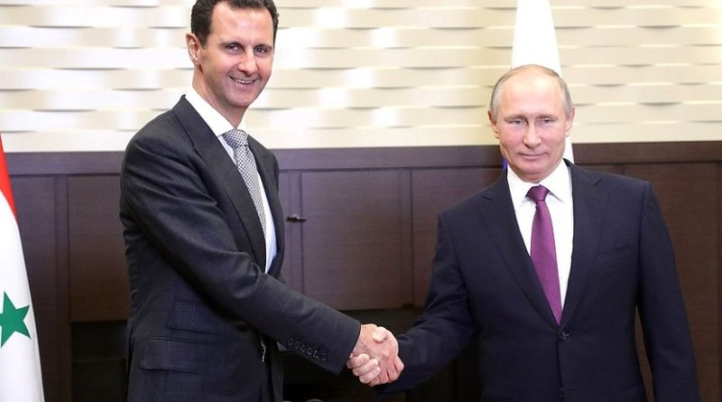 Russia's President Vladimir Putin with the President of the Syrian Arab Republic Bashar al-Assad. Photo Credit: Kremlin.ru