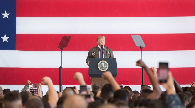 President Donald J. Trump delivers remarks at Yokota Air Base | November 5, 2017 (Official White House Photo by Andrea Hanks)