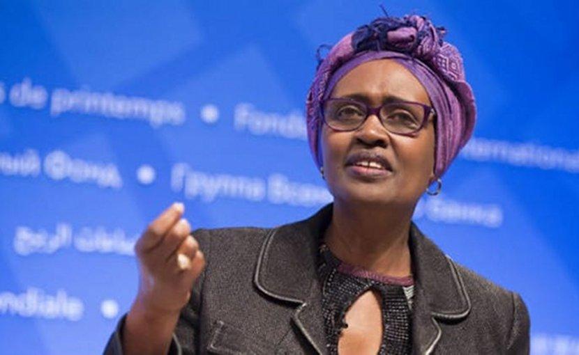 Oxfam International Executive Director Winnie Byanyima. Photo by: Stephen Jaffe / IMF