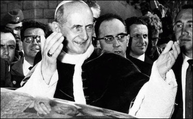 Pope Paul VI journeyed to the Holy Land to pray for the success of the Second Vatican Council. The council later issued a teaching freeing the Jews from the charge of deicide.