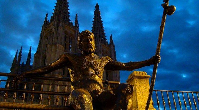 Monument of the pilgrims, Burgos, Spain. Photo by Bjørn Christian Tørrissen, Wikipedia Commons.