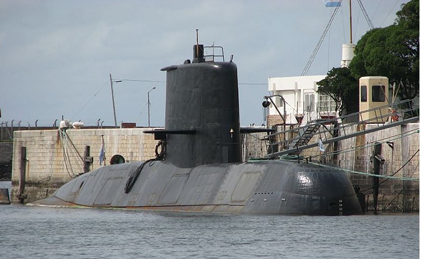 Argentina's submarine ARA San Juan. Photo by Martin Otero, Wikipedia Commons.
