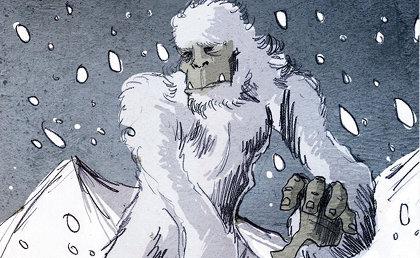 Illustration of a Yeti by Philippe Semeria. Source: Wikipedia Commons.