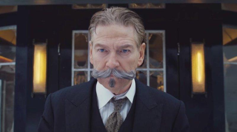 "Kenneth Branagh as Poirot in ""Murder on the Orient Express."""