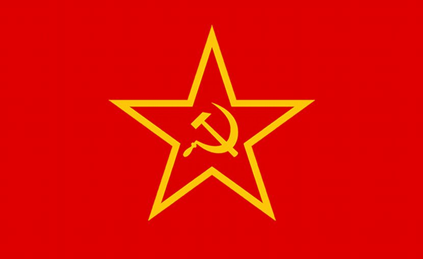Communist Red Star and Hammer and Sickle