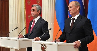 President of Armenia Serzh Sargsyan with Russia's President Vladimir Putin. File photo: Kremlin.ru
