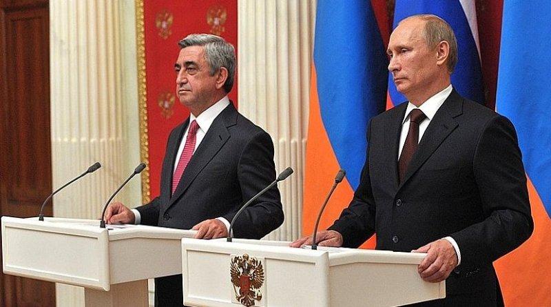 President of Armenia Serzh Sargsyan with Russia's President Vladimir Putin. File photo: Kremlin.ru
