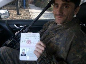 Dejan Beric with DNR passport. Photo: Facebook/Dejan Beric