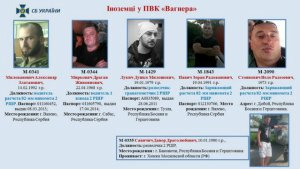 Wagner members wanted by the Ukranian secret service.