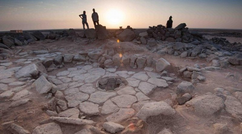 Professor Elisabetta Boaretto and Dr. Tobias Richter. In the foreground is a Natufian hearth at Shubayqa, Jordan. Credit The Weizmann Institute of Science
