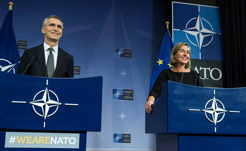 NATO Secretary General Jens Stoltenberg and EU High Representative/Vice President Federica Mogherini. Photo Credit: NATO