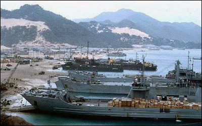 Russian ships at the port of Tartus, Syria. Russia has sought warm water ports since Peter the Great. Following the Cold War, Moscow has maintained a permanent presence in the Mediterranean at its naval facility in Tartus.
