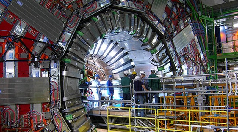 The CMS detector in the Large Hadron Collider with which Pekkanen and thousands of other physicists work at CERN. Photo: Panja Luukka