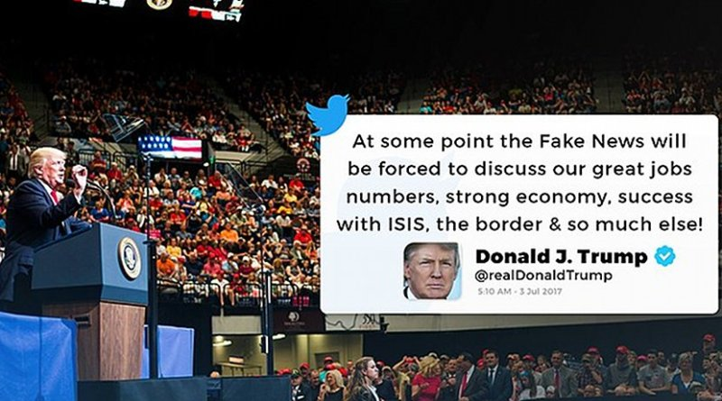 Donald Trump Facebook/Twitter post. Photo Credit: Donald Trump