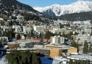 The Davos Congress Centre seen from the air. Photo by World Economic Forum, Wikipedia Commons.