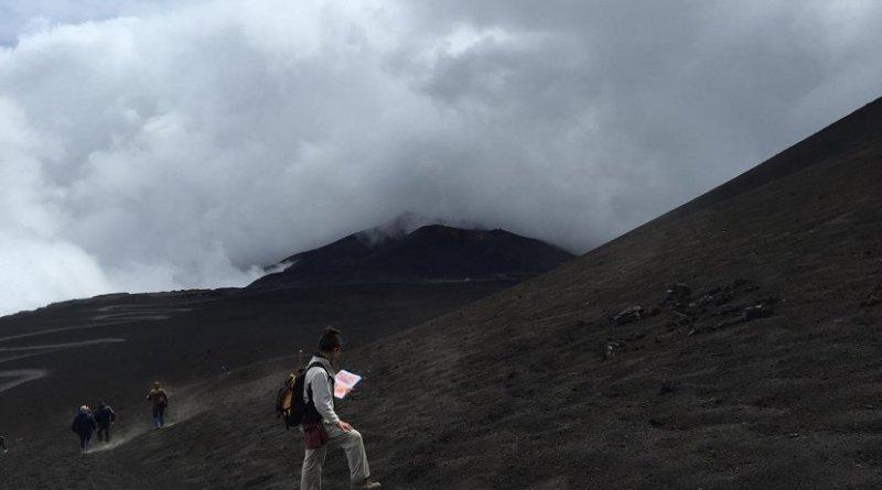 This is Dr. Teresa Ubide at Mt. Etna, Sicily Credit Teresa Ubide