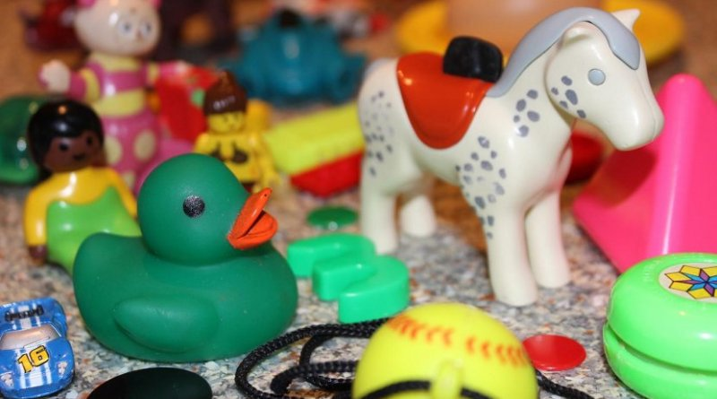 hese are some of the second hand toys used in the research. Credit Dr Andrew Turner, University of Plymouth