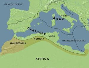 Map of the Mediterranean Roman empire