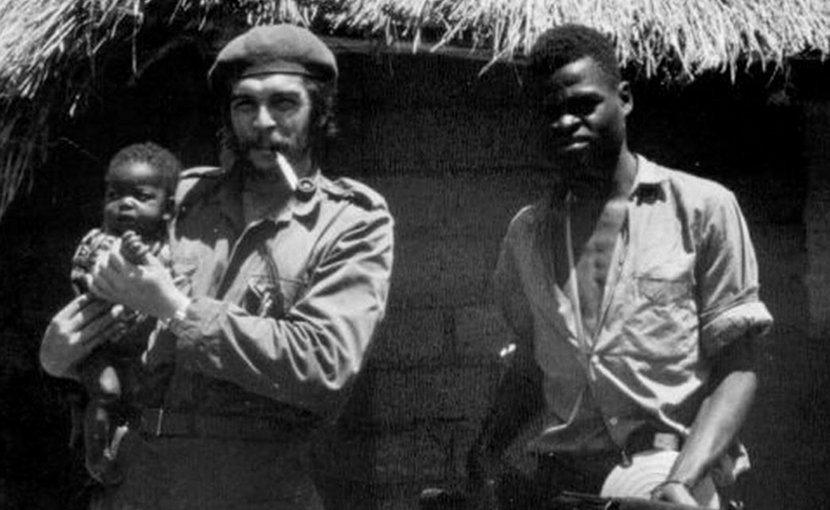 Che Guevara in the Congo in 1965. Wikimedia Commons