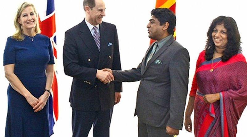 Prince Edward and Countess Sophie Rhys-Jones arrive in Sri Lanka. Photo Credit: Sri Lanka government.