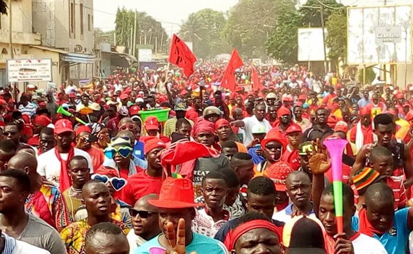 In Lome and across the country, large, multi-party protests against 50 years of rule by a single family began in August and have continued in the run-up to this week's political dialogue. (Source: @Farida_N/Twitter)