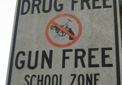 Drug Free and Gun Free. Photo by Marcus Quigmire, Wikimedia Commons.