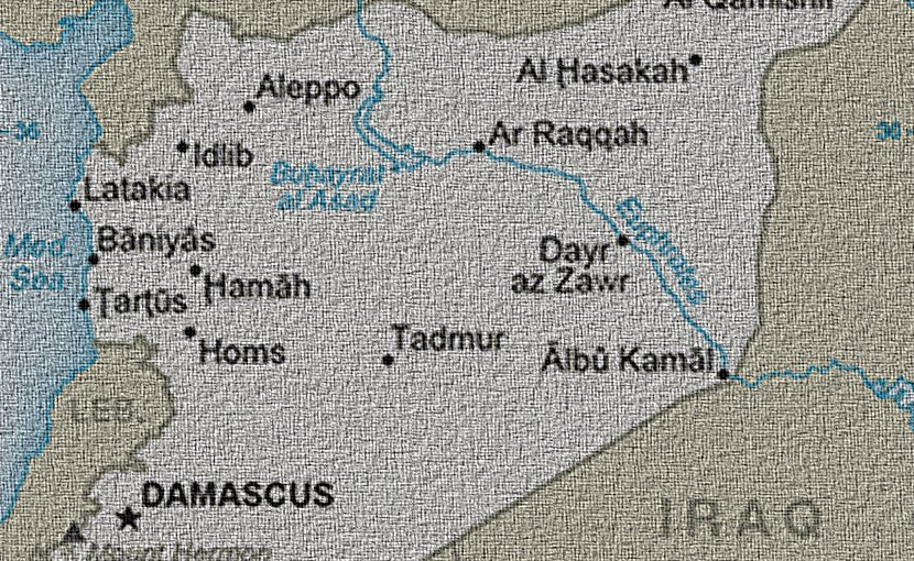 Syria. Edited from CIA World Factbook graphic.