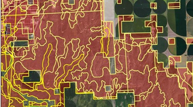 An aerial image of the research study area in southwestern Kansas. Credit Colorado State University