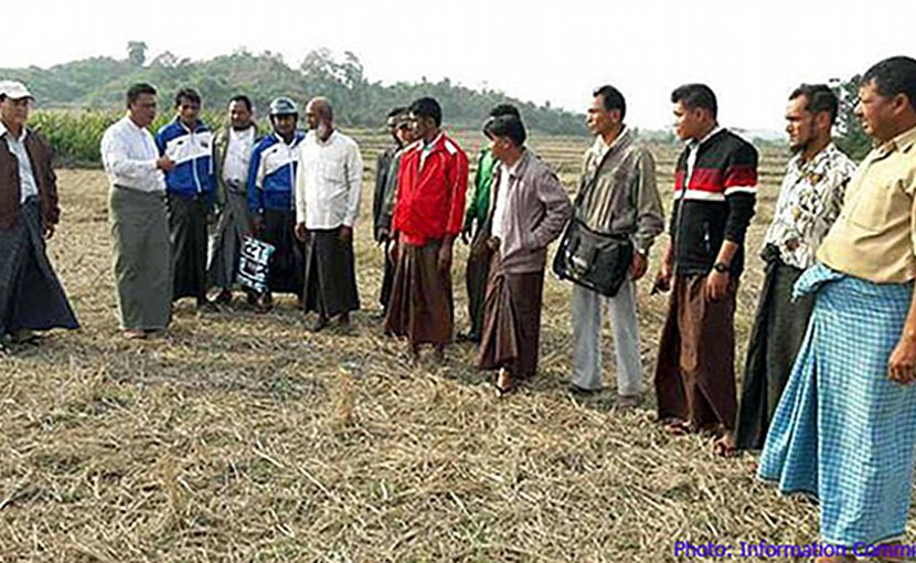 Members of a commission looking into a news report about mass graves for Rohingya Muslims inspects one of the sites in Buthidaung township in western Myanmar's Rakhine state, February 2018. Photo courtesy of Rakhine State's Information Committee