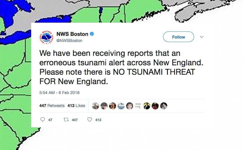 US East Coast residents receive false tsunami warning
