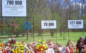 Signs at Donja Gradina Memorial Site offer the figure of 700,000. Photo: Wikimedia Commons/Never will happen again (talk).