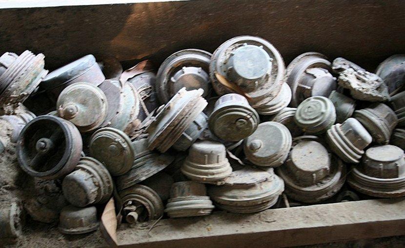 Landmines. Photo by Neil Rickards, Wikimedia Commons.
