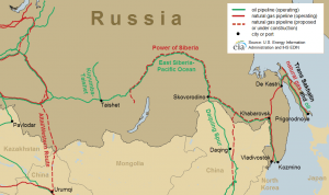 Figure 4. Major eastern Russian oil and natural gas pipelines Source: U.S. Energy Information Administration and IHS EDIN