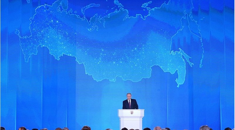 Russia's President Vladimir Putin delivers Presidential Address to the Federal Assembly. Source: Kremlin.ru