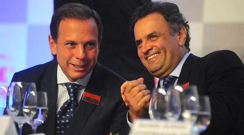 Brazil's João Doria and Aécio Neves. Photo Credit: Aécio Neves, Wikimedia
