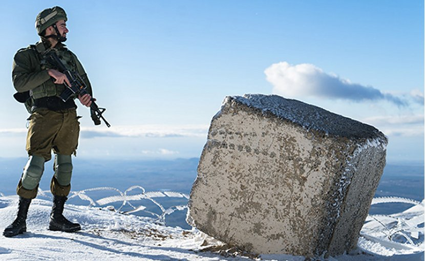 An Israeli soldier patrols the Golan Heights. Source: Israel Defense Forces