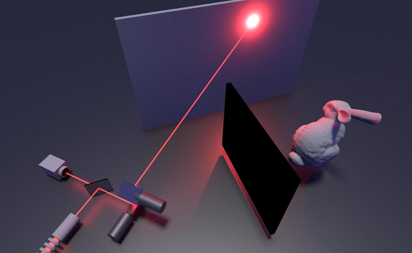 Illustration of the non-line-of-sight imaging system. Credit Stanford Computational Imaging Lab
